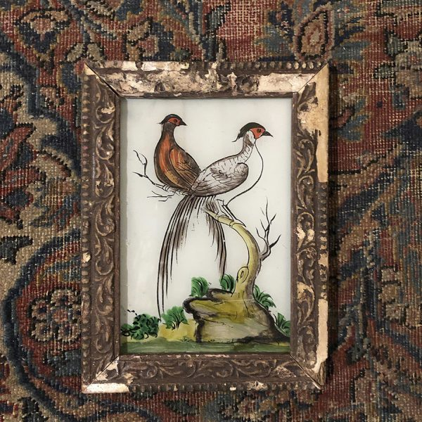 Two Partridges Distressed Frame-S