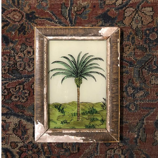 Palm Tree Light Distressed Frame-S