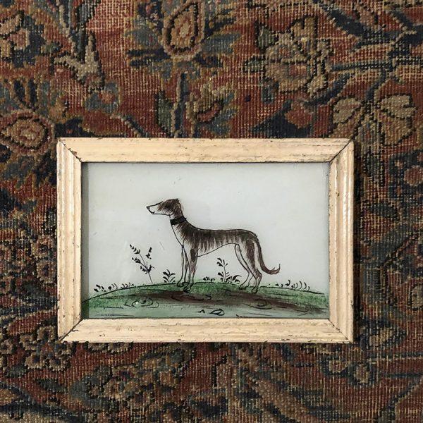 Grey Dog Cream Frame-S