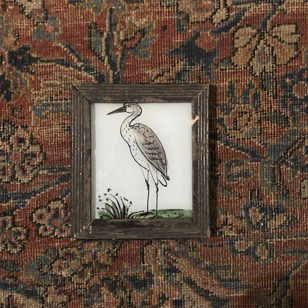 Heron - Grey Background